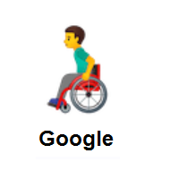 Man In Manual Wheelchair on Google Android