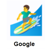 Man Surfing on Google Android