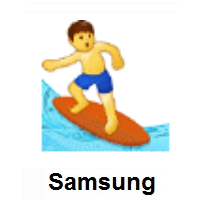 Man Surfing on Samsung