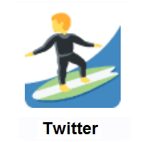 Man Surfing on Twitter Twemoji