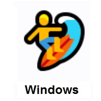 Man Surfing on Microsoft Windows
