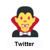 Man Vampire on Twitter Twemoji