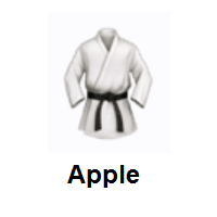 Martial Arts Uniform on Apple iOS