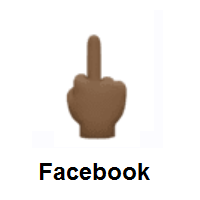 Middle Finger: Dark Skin Tone on Facebook
