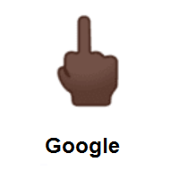 Middle Finger: Dark Skin Tone on Google Android