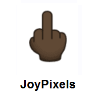 Middle Finger: Dark Skin Tone on JoyPixels