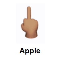 Middle Finger: Medium Skin Tone on Apple iOS