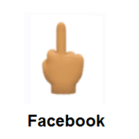 Middle Finger: Medium Skin Tone on Facebook