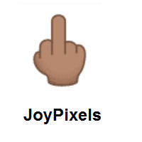 Middle Finger: Medium Skin Tone on JoyPixels