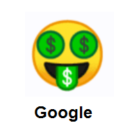 Money-Mouth Face on Google Android