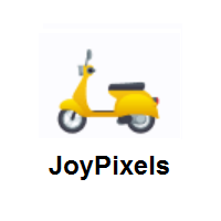 Motor Scooter on JoyPixels