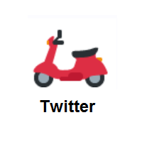 Motor Scooter on Twitter Twemoji