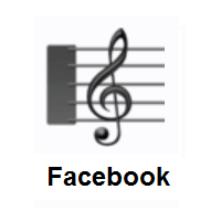 Musical Score on Facebook
