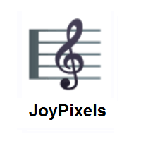Musical Score on JoyPixels