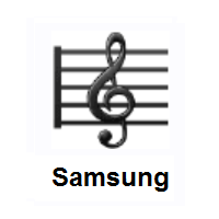 Musical Score on Samsung