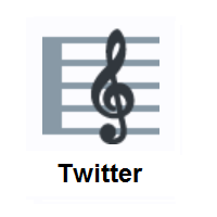 Musical Score on Twitter Twemoji
