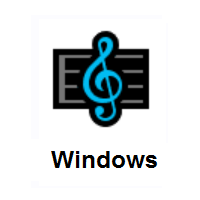 Musical Score on Microsoft Windows