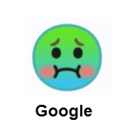 Nauseated Face on Google Android