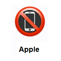 No Mobile Phones on Apple iOS