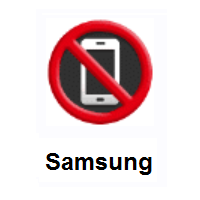 No Mobile Phones on Samsung