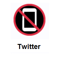 No Mobile Phones on Twitter Twemoji