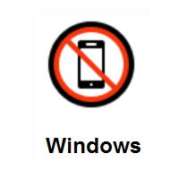 No Mobile Phones on Microsoft Windows