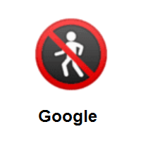 No Pedestrians on Google Android