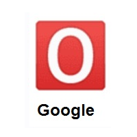 O Button (Blood Type) on Google Android