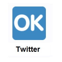 OK Button on Twitter Twemoji