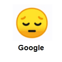 Sleeping: Pensive Face on Google Android