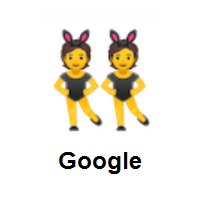 People with Bunny Ears on Google Android