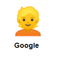 Emojia: Person Blond Hair on Google Android
