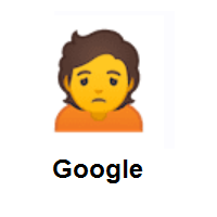 Depressive: Person Frowning on Google Android