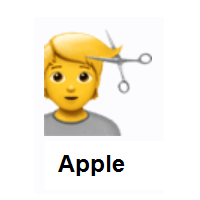 Person Getting Haircut on Apple iOS