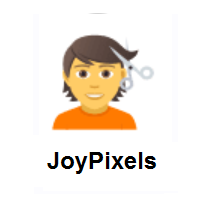 Person Getting Haircut on JoyPixels