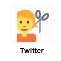 Person Getting Haircut on Twitter Twemoji