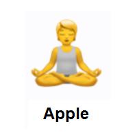 律 person in lotus position emoji