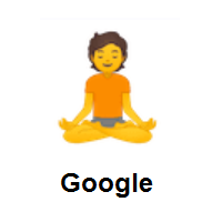 Person in Lotus Position on Google Android