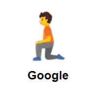Person Kneeling on Google Android