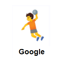 Person Playing Handball on Google Android