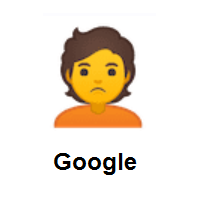 Person Pouting on Google Android