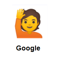 Person Raising Hand on Google Android