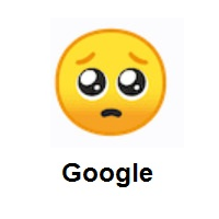 Pleading Face on Google Android
