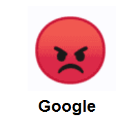 Sorrowful: Pouting Face on Google Android