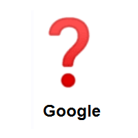 Question Mark on Google Android