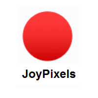Red Circle on JoyPixels