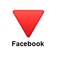 Red Triangle Pointed Down on Facebook