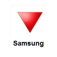Red Triangle Pointed Down on Samsung