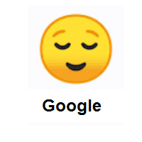 Relieved Face on Google Android