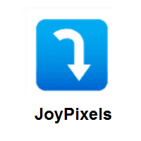 Right Arrow Curving Down on JoyPixels